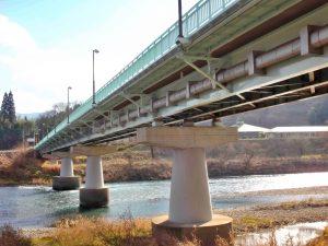 長野県の国道19号線大原橋に施行